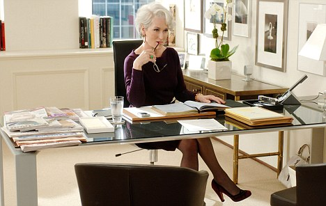 Devil Wears Prada Two-time Academy Award¨ winner Meryl Streep stars as Miranda Priestly, the editor of Runway magazine. PHOTOGRAPHS TO BE USED SOLELY FOR ADVERTISING, PROMOTION, PUBLICITY OR REVIEWS OF THIS SPECIFIC MOTION PICTURE AND TO REMAIN THE PROPERTY OF THE STUDIO. NOT FOR SALE OR REDISTRIBUTION.