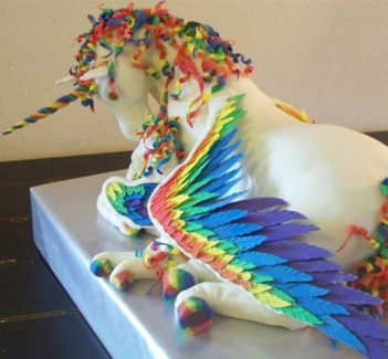 erin peterson alumni magazines unicorn cake